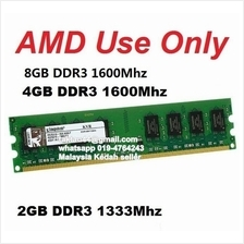 Kingston 2GB 1333 4GB DDR3 1600 Ram AMD AM3 AM3+ (Compatible 1333mhz)