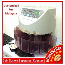 BANKER AUTO COIN SORTER COUNTER MACHINE LCD DISPLAY MALAYSIA COIN