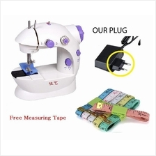 Original Jia-Yi Mini Sewing Machine w/ Light , Cutter & 2Pin Plug
