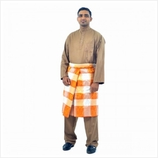 Cotton  & Silk - Baju Melayu Egyption Cotton Cairo - D1 (Brown)