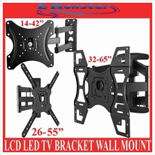 LCD LED TV Bracket Tilt Swivel Wall Mount 14'-42' 26'-55' 32'-65'