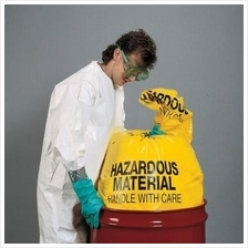 10 UNITS of Hazard Material Disposable Bag 46cmX76cm