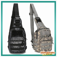 Military Tactical Molle Chest Pouch Sling Bag Cycling Hiking Bag