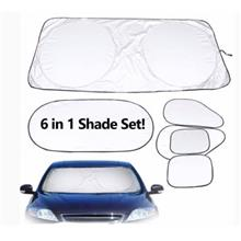 6pcs Car Windshield Sun Shade Protector Visor Silver Coated Reflective