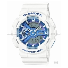 CASIO GA-110WB-7A G-SHOCK ana-digi white blue series resin strap