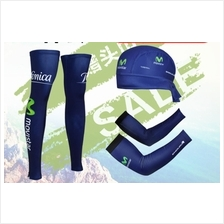 UV heat protection leg arm warmer cap bandana Cycling compression 5 / sets