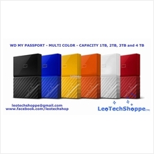 WD NEW MY PASSPORT 2TB (ASSORTED COLORS) EXTERNAL PORTABLE HARD DISK