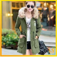Plus Size Korean Fashion Women Hooded Winter Jacket Coat