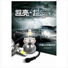 LED Car Headlight Bulb for H1/H3/H4/H7/H11/HB3/HB4 FREE T10 (1 pair)