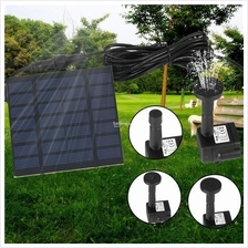 Solar Power Fountain Pool Water Pump Garden Sun Plants Watering Outdoo..