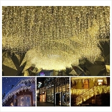 NEW 5M 216 LED Curtain Light Fairy Icicle String Christmas Party Raya