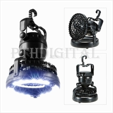 2in1 Portable 18 LED Camping Flashlight Ceiling Fan Camping Lamp Hike