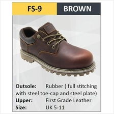 Hercules Safety Shoes First Grade Cow Leather Fiber Steel Shoes Boot