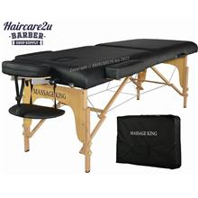 MassageKing Portable Folding Massage Bed Table (High Grade PU Leather)