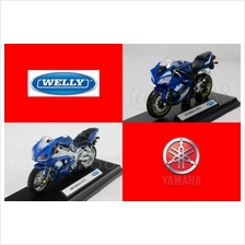 Welly 1:18 DIECAST Motocycle 1999 / 2008 YAMAHA YZF-R1 Blue Model New