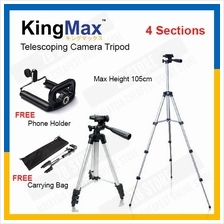 KingMax Telescoping Camera DSLR Tripod Extendable 3-Way HeadTripod