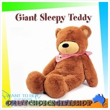 1.0/1.2/1.6 Meter Giant Sleepy Teddy Bear Genuine Plush Toy For Gift