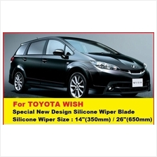 (Promotion)Toyota Wish Wiper (14'+26) New Design Silicone Wiper Blades