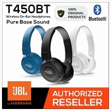JBL T450BT Pure Bass Wireless Bluetooth On-Ear Headphones [ Original ]