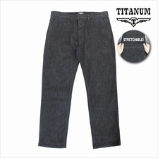TITANIUM Enzymed-Wash Chinos Stretch Grey Black TC812