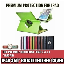 iPad 2 3 4 Air 2 iPad Mini 1 2 3 4 360° Rotate Rotating Leather Case