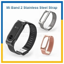 Xiaomi Mi Band 2 Screwless Stainless Steel Bracelet Metal Wrist Strap