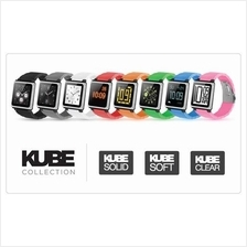 iWatchz for iPod nano 6 and Pebble Watch- Kube Clear Orange