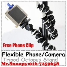 (Free Phone Clip)Flexible Octopus Phone Camera Holder Stand Tripod