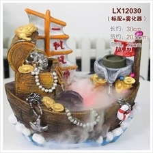 FENG SHUI WATER FOUNTAIN - 12030 BOAT SAILING HOME DECO GIFT