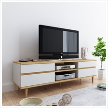 HCSF044 5''L Woodgrain TV cabinet-White