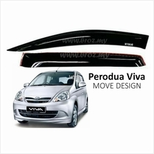 Air Press Window Door Visor Wind Deflector for Perodua Viva