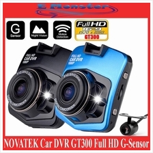 Novatek Car DVR Camera GT300 Full HD 1080p G-Sensor with Rear Camera