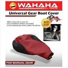 Universal LEATHER SHIFT GEAR BOOT COVER MANUAL RED