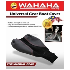 Universal LEATHER SHIFT GEAR BOOT COVER MANUAL BLACK