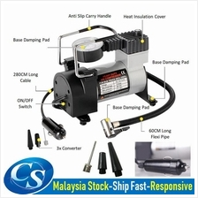 Heavy Duty Fast Inflating Car Metal Tyre Air Compressor Pump Tayar