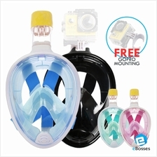 Full Face Snorkel Mask Set with Easy Breath for Anti-fog Diving