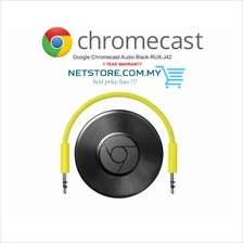 Google Chromecast Audio Black-RUX-J42 - READYSTOCK
