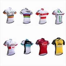 2017 UCI WorldTour cycling kits Short sleeve cycling jerseys shorts bibs Gel p