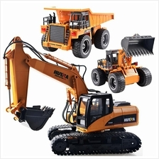 RC Remote Control 2.4G Alloy Excavator Bulldozer Dump Truck Car Toy