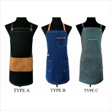 Custom Made High Quality Denim Jeans Work Apron for Cafe & Barbers