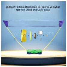 Outdoor Portable Badminton Set Tennis Volleyball Net with Carry Case