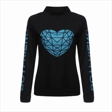 WOMEN'S CASUAL LONG SLEEVE LETTER PRINT T-SHIRT (BLACK, SIZE M/L/XL)