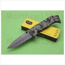 Buck Folding Spring Camouflage Outdoor Survival Camping Pocket Knife