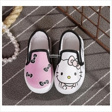 KS003 Kids Girls Hello Kitty Canvas Shoes