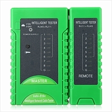 916C NETWORK CABLE TESTER RJ45 RJ11 CAT5 UTP LAN NETWORKING TOOL (GREEN)
