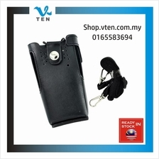 Leather Bag Pouch For MOTOROLA GP328 GP-340 GP-3188 Walkie Talkie