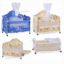 New Safety 2 In 1 Multifunction Baby Cot Mosquito Net Baby Crib Canopy