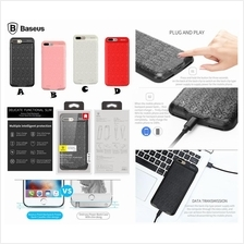 iPhone 7 BASEUS Plaid 2500mAh Slim External Battery Power Bank Case