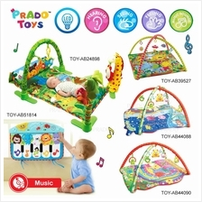 PRADO Large Baby Soft Play Mat LED Light Music Gym Twist Fold Toy Kids