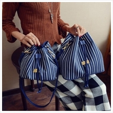 Blue Stripe Bucket Bag (2 Size Available)